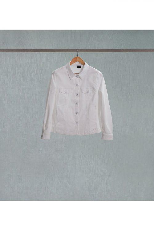 Curve-à-Porter cazadora blanca de algodón de talla grande